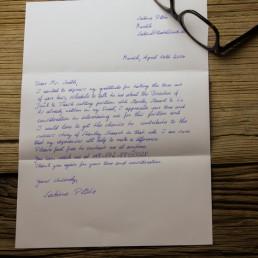 Handwritten Premium Letter 1.000