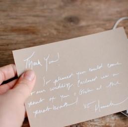 Dankeskarten in Handschrift als Paketbeileger