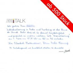 Einladungen in Handschrift begeistern jeden Empfänger