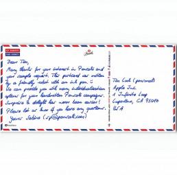 Postkarte in Handschrift DIN Lang mit bis zu 430 Zeichen