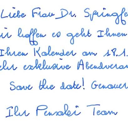 Roboter Handschrift GLEN - kostenlose Standardhandschrift