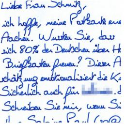 Roboter Handschrift Paris - kostenlose Standardhandschrift