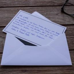 Handgeschriebene Trauerkarte inkl. Kuvert und Versand