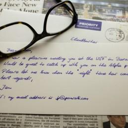 Briefkarte Deluxe in Handschrift von Pensaki
