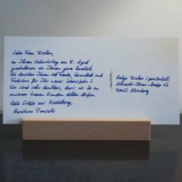 handgeschriebene postkarte 430