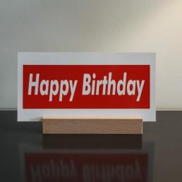 handwritten postcard happy birthday by robot Pensaki