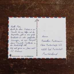 Postkarte in Handschrift A6 mit bis zu 320 Zeichen