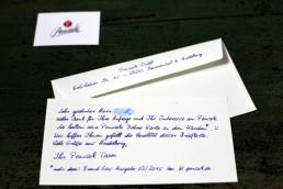 Briefkarte Premium 400 in Handschrift 123-min