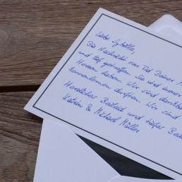 Exclusive handwritten sympathy card from Pensaki robots