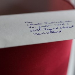 Briefumschlag Adresse Handschrift Pensaki Roboter