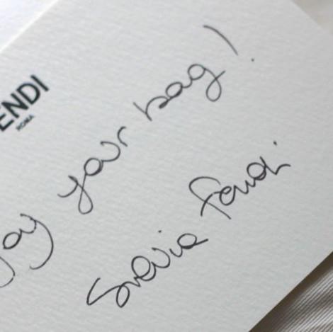 handwritten package insert thank-you