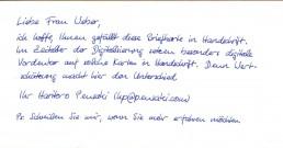 19 Pensaki Brief 400 Alex Handschrift Muster Roboter