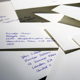 Handgeschriebene Briefumschläge werden fast immer geöffnet