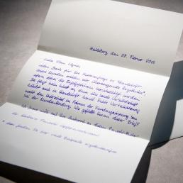 Briefe Handschrift A4 650 Zeichen Roboter