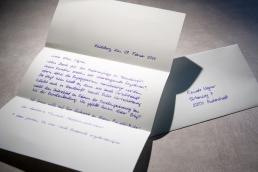 Briefe Handschrift A4 inklusive Kuverts und Versand
