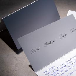 Dankeskarten in Handschrift inkl. Kuverts & Versand