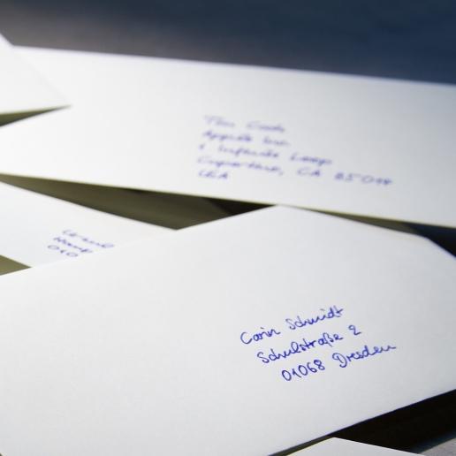 Briefumschläge Handschrift Roboter Pensaki Muster