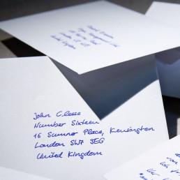 Kuverts Handschrift Roboter Pensaki Muster