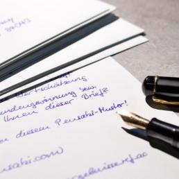 Roboterhandschrift Brief von PENSAKI