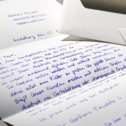 Handgeschriebener Brief mit bis zu 1.000 Zeichen inkl. Leerzeichen