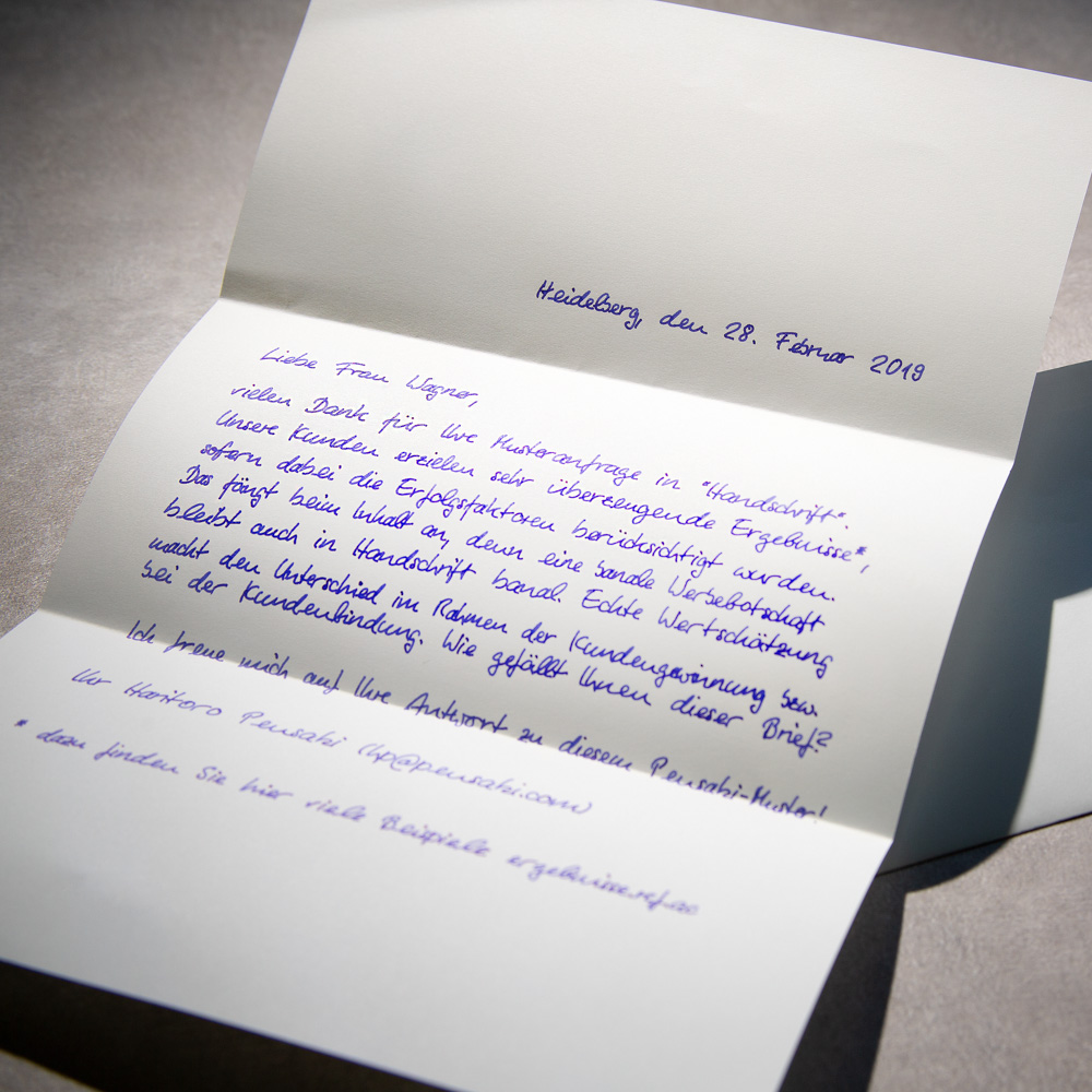 Handwritten Letters generate 40 Percent new leads