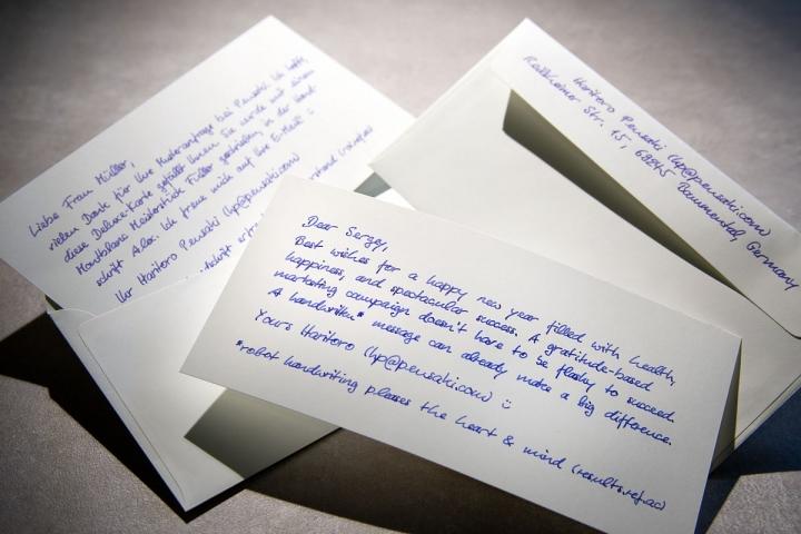 Briefe zur Kundengewinnung in Handschrift erzielen eine 40% Rücklaufquote