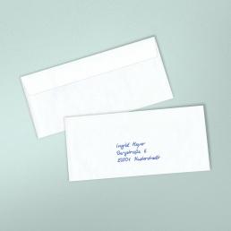 Handgeschriebene Kuvert2S mit Empfängeranschrift ohne Absenderangaben