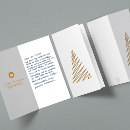 Handschriftliche Weihnachtskarte mit Kuvert von Pensaki WEISS