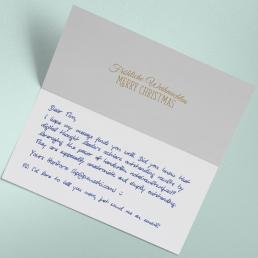 Handwritten parcel inserts