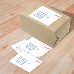 Etiketten Adressen in Handschrift