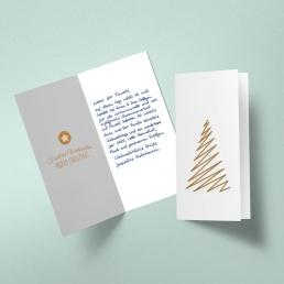 Handwritten Minimalist Christmas Card including envelopes from Pensaki WHITE Portrait