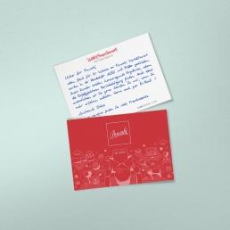 handgeschriebene Paketbeilagen von Pensaki erfreuen Ihre Kunden