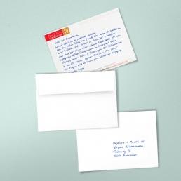 Exklusive Einladungen in Handschrift