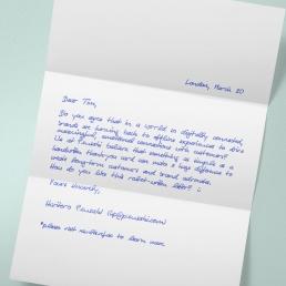 Handgeschriebener Brief mit bis zu 650 Zeichen inkl. Versand