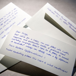 Handwritten Deluxe Note with handwritten envelopes - order from Pensaki