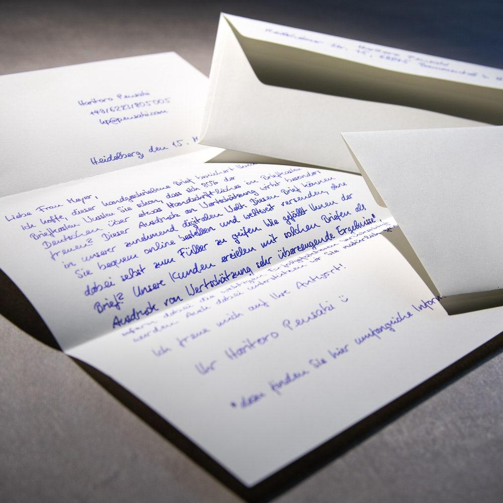 Handwritten Letter A4 1000 including envelopes Pensaki