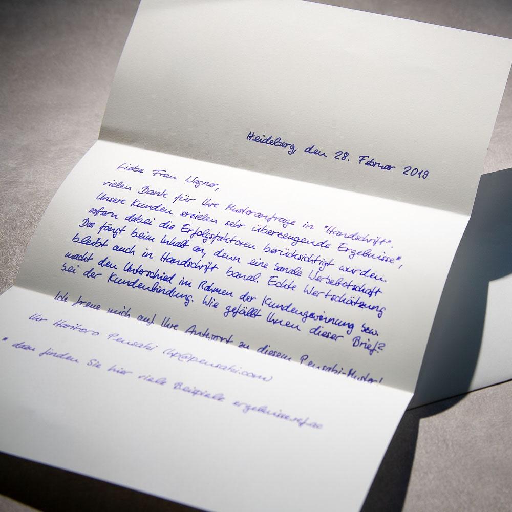 Handwritten Letter A4 650 including envelopes global mail delivery