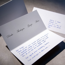 Handwritten Thank You Note 400 White Folded 300 gsm