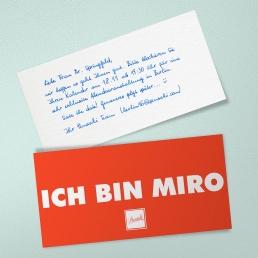 MIRO Roboter Handschrift von Pensaki