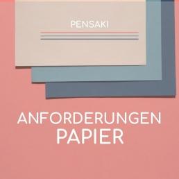 Anlieferung Anforderungen Papier PENSAKI
