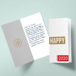 handgeschriebene Neujahrskarten geschäftlich