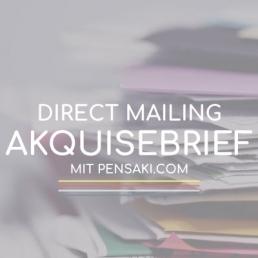 Kundenakquise mit Direct Mailing mit PENSAKI