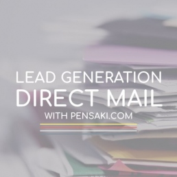 PENSAKI Lead Generation Campaigns - direct mail