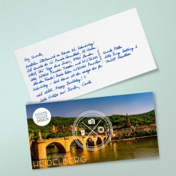 Din Lang Postkarten in Handschrift von PENSAKI