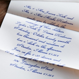 Kalligrafie Briefe mit einer Kalligrafie Feder geschrieben