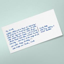 Postkarte Geburtstag in Handschrift online versenden