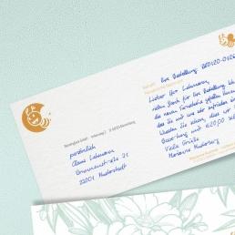 handgeschriebene Anschrift Adressfeld von PENSAKI