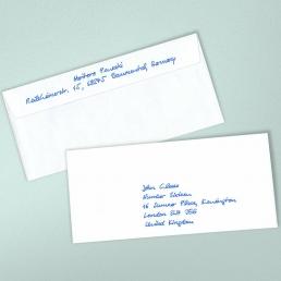 handschriftlich adressierte Kuverts - Variante Kuvert2S