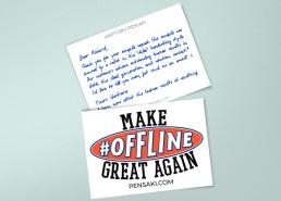 handwritten package insert parcel thank you notes