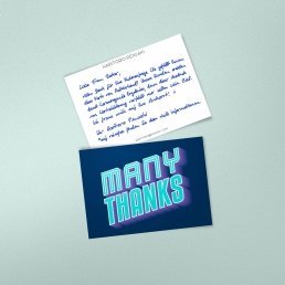 Robot Handwritten Thank You Notes A6 by PENSAKI